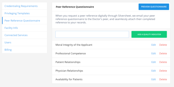 Peer References Section