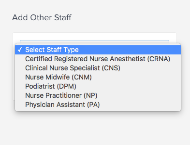 Select Other Staff