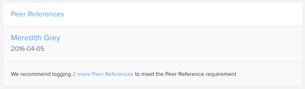 Peer References Recommendation